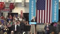 Hillary Clinton mocks Trump's business record during Columbus rally