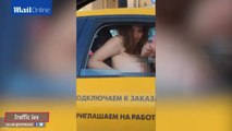 Couple Caught Having Sex In Taxi During A Traffic Jam In Crazy Video