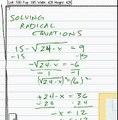 algebra solving radical equations 15-sqrt [(24-x)]=9