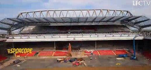 Liverpool'un stadı, Anfield Road yenileniyor.