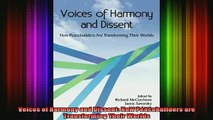 READ book  Voices of Harmony and Dissent How Peacebuilders are Transforming Their Worlds Full EBook
