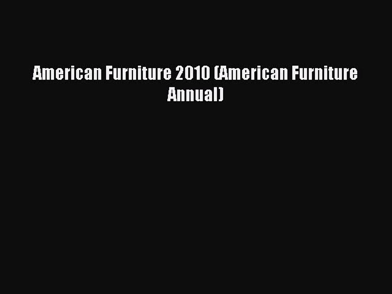 Read American Furniture 2010 (American Furniture Annual) PDF Online