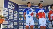 LA MARSEILLAISE POUR THIBAUT PINOT AUX CHAMPIONNATS DE FRANCE DE CYCLISME