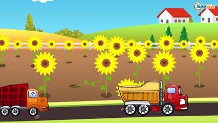 ✔ Мультики про машинки. Грузовичок и Мусоровоз собирают урожай. Стройка склада / 10 Серия ✔