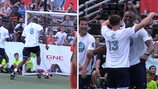 NBA's Bismack Biyombo — Dominates Charity Soccer Game … 4 Goals!!!