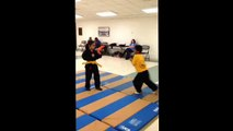 Elite Martial Arts ( Chikushin Kai Karate Jutsu ) Kids self defense class. Master Otis Jones
