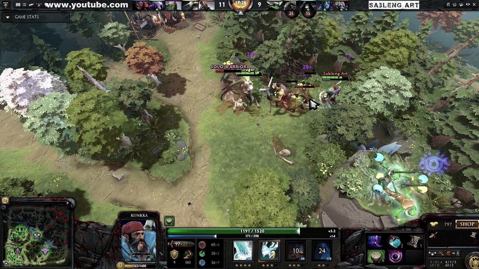 Sableng Art - Kunkka Asia Typical - Dota 2 Game Play