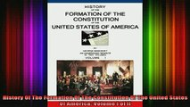 READ book  History Of The Formation Of The Constitution Of The United States Of America Volume I of Full Free