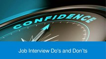 Job Interview Do's and Don'ts for Job-Seekers   William Almonte