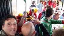 Belgium Ireland supporters celebrating before the game