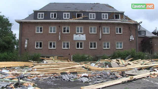 Le hall sportif de Jodoigne détruit