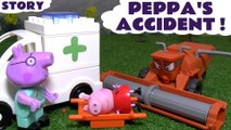 PEPPA'S ACCIDENT --- Join Peppa Pig and Frank from Disney Cars as Peppa has an Accident, Featuring Thomas and Friends, an Ambulance, Play Doh, Shopkins, Lalaloopsey and many more family fun toys