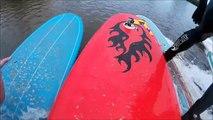 Severn Bore Surfing 19/04/2015 ( Helmet-cam view)