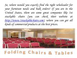 Best Discounts on Furniture Orders with Stackable Chairs Larry Hoffman