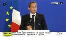 """EN DIRECT - Brexit: Nicolas Sarkozy demande un """"nouveau traité"""" européen"""