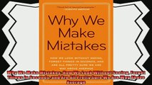 different   Why We Make Mistakes How We Look Without Seeing Forget Things in Seconds and Are All