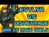Evylyn Vs Disneymage Arms Warrior vs Frost Mage Epic Duels wow wod 6.1 warrior pvp