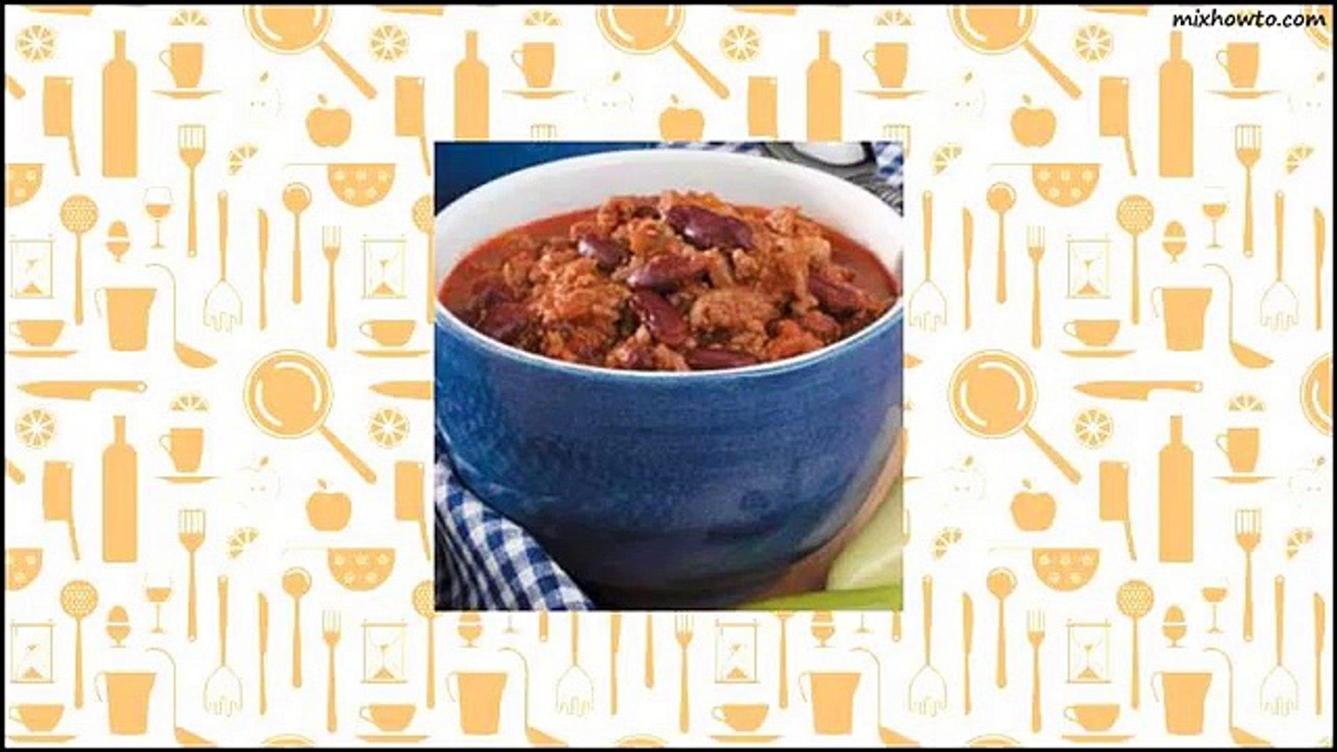 Recipe Spicy Slow-Cooked Chili Recipe