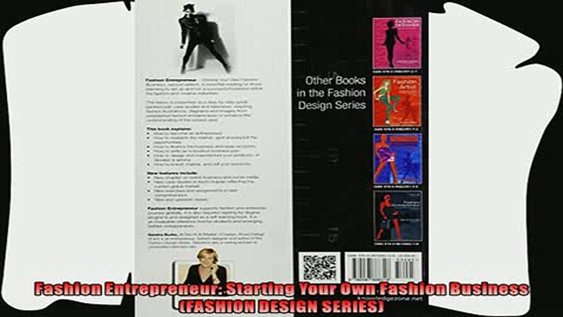 book online   Fashion Entrepreneur Starting Your Own Fashion Business FASHION DESIGN SERIES