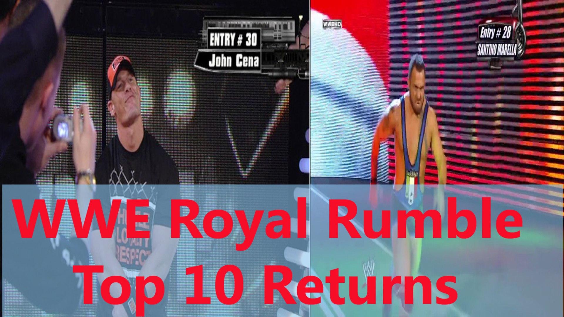 WWE - WWE Wrestling - WWE Royal Rumble Top 10 returns in history ever! - Wrestling World