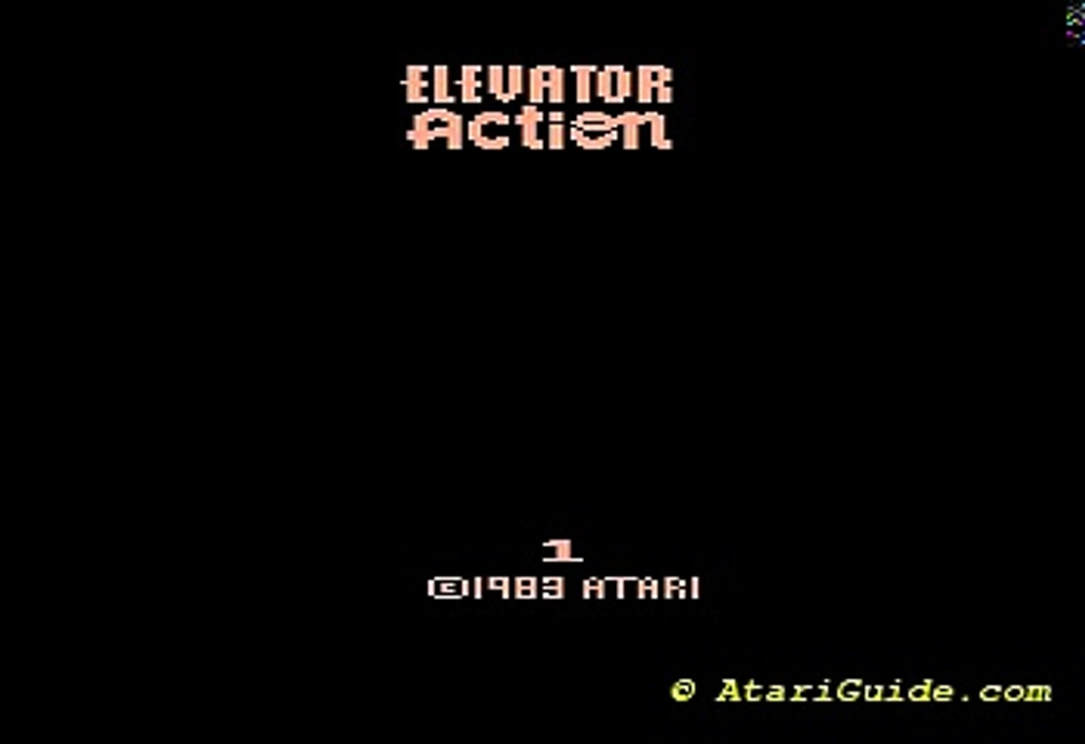 Atari 2600 Elevator Action 1983 Atari, Dan Hitchens CX26126