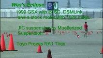 Eclipse GSX and Eagle Talon Auto Cross 4-26-09