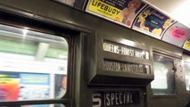 NYC Subway Special: On Board R1 100 Nostalgia Train 23 St to 34 St-Herald Sq