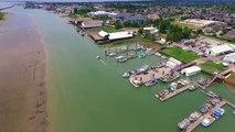 Steveston Harbour Low Tide June 6, 2016  1' Tide