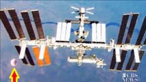 Gigantic UFO Spotted Near ISS- Conspiracy Theories Abound Over Video Clip- Alien UFO Cover-Up