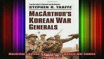 READ book  MacArthurs Korean War Generals Modern War Studies Hardcover Full Free