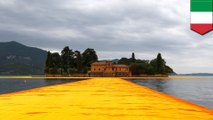 Walking on water: The Floating Piers, artist Christo's news work, lets you walk on water - TomoNews