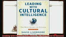 behold  Leading with Cultural Intelligence The Real Secret to Success