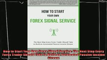 How to start your own forex signal service pdf download