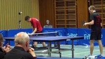 Tischtennis Oberliga DJK Sp Effeltrich vs TSV Stein 25 Tobias Quick vs Tobias Ehret