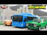 헬로카봇2 장난감 대중교통의 힘 버스와 택시의 3단합체 로드세이버 스톱모션 야외 자동차 합체로봇 동영상 HelloCarbot2 Transformers