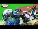 헬로카봇 장난감 아반떼 프론 경찰차 VS 중국산 히어로팩토리 짝퉁로봇 전투 동영상 변신자동차 변신로봇 HelloCarbot2 Transformers Combat
