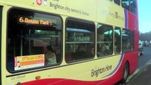 Brighton and Hove bus route 6 departing Mill House bus stop, 24th June 2016