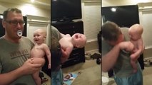 Quand bébé a un fou rire avec papa !