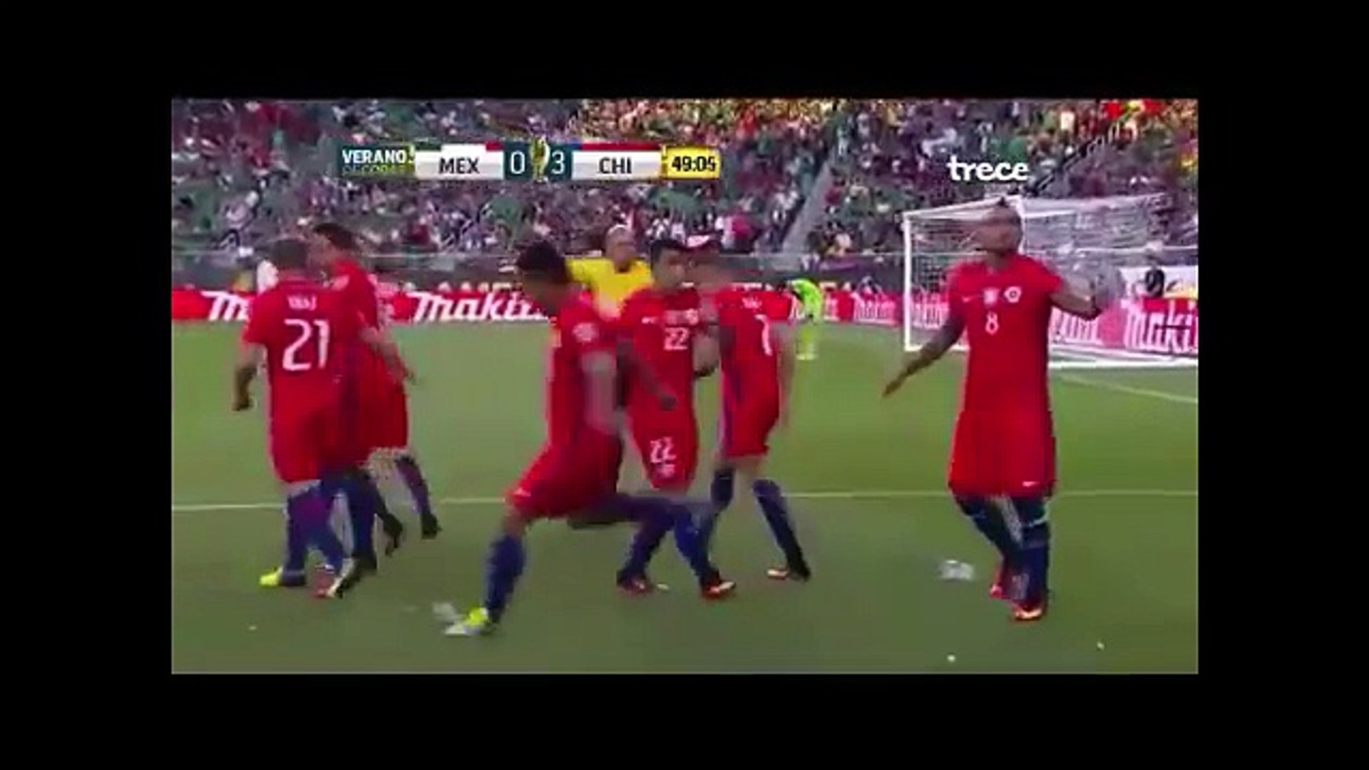 México vs Chile 0-7 Copa America 2016 TV AZTECA FULL HD - VERGÜENZA NACIONAL