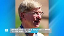 George Will to leave Republican Party over Donald Trump