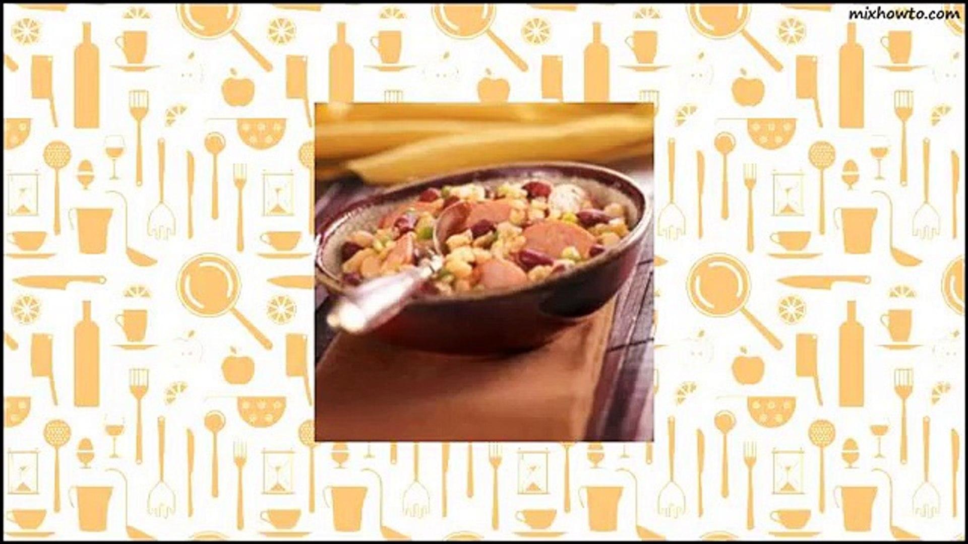 Recipe Sausage & Beans with Rice Recipe
