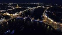 Красивый развод мостов в Питере