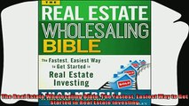 book online   The Real Estate Wholesaling Bible The Fastest Easiest Way to Get Started in Real Estate