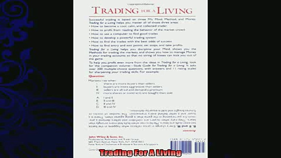 complete  Trading for a Living Psychology Trading Tactics Money Management