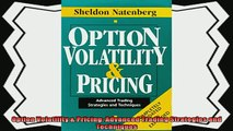 complete  Option Volatility  Pricing Advanced Trading Strategies and Techniques