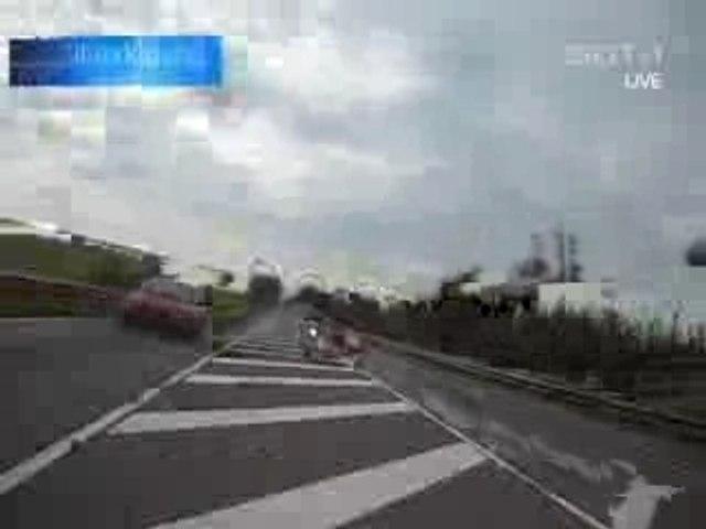 Crash en moto à 230km/h