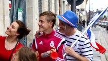Saint-Quentin: concert de klaxons après la victoire des Bleus contre l'Irlande.