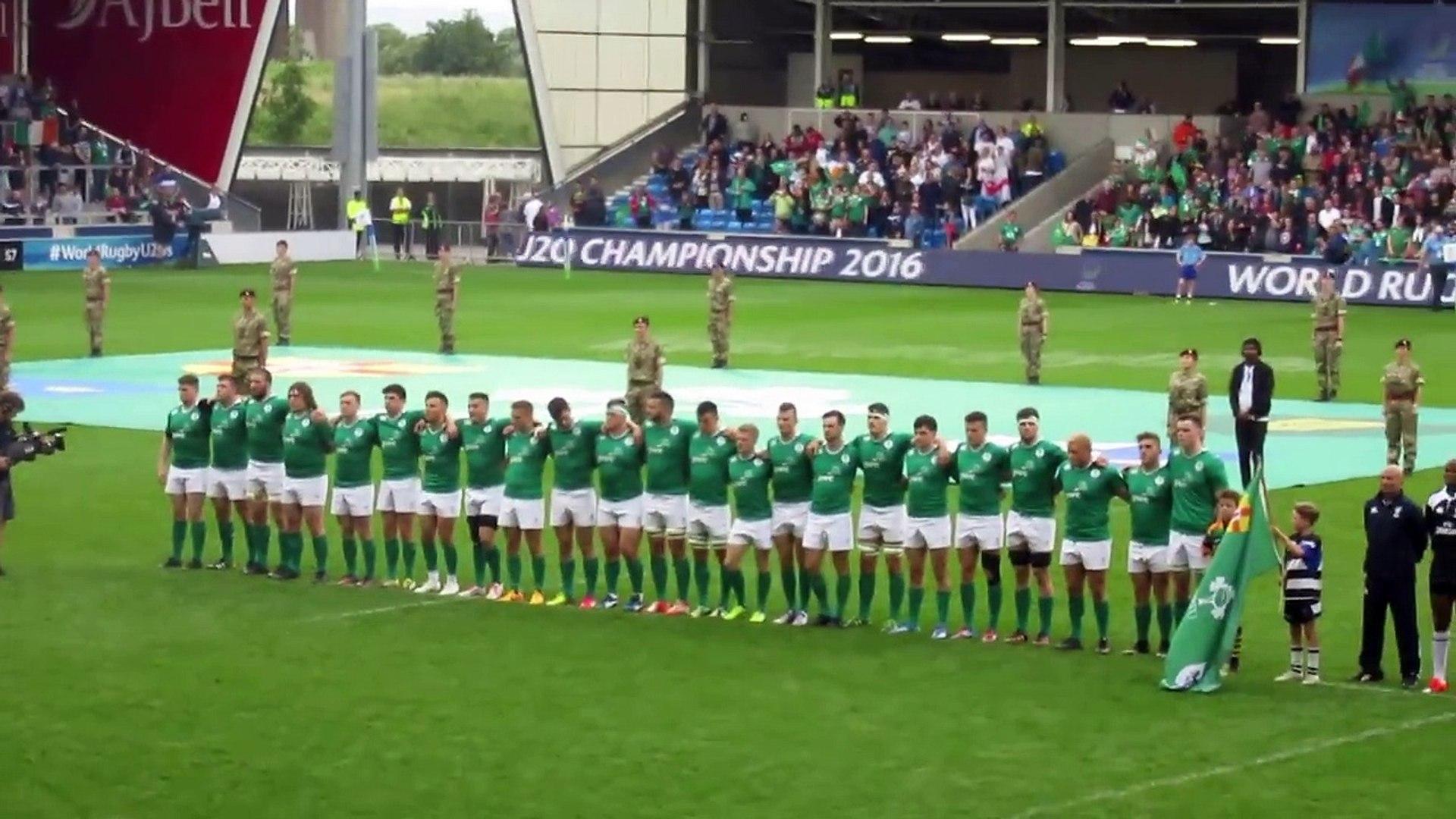 Under 20s Rugby World Cup Final-Irish National Anthem