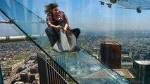Skyslide : Toboggan de verre sur le plus haut building de Los Angeles