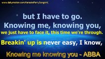 Knowing me knowing you - ABBA - Karaoke Party Songs HD